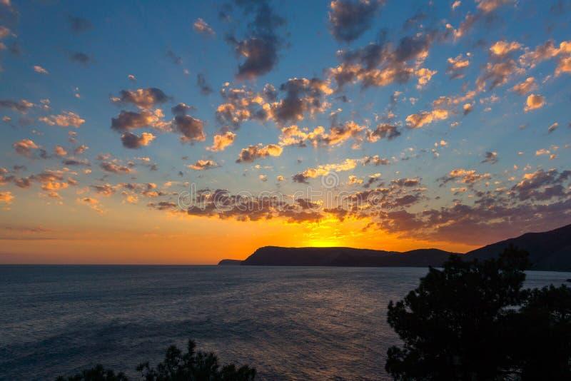 Wieczór widok morze Crimea, Ukraina obraz royalty free