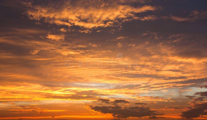 Wieczór widok piękny niebo obrazy stock