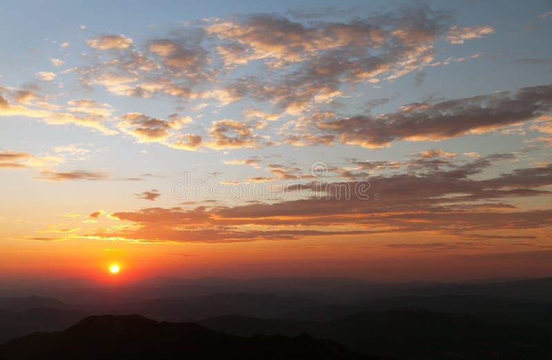 Wieczór widok piękny niebo obrazy royalty free