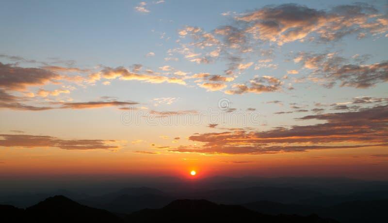 Wieczór widok piękny niebo fotografia royalty free
