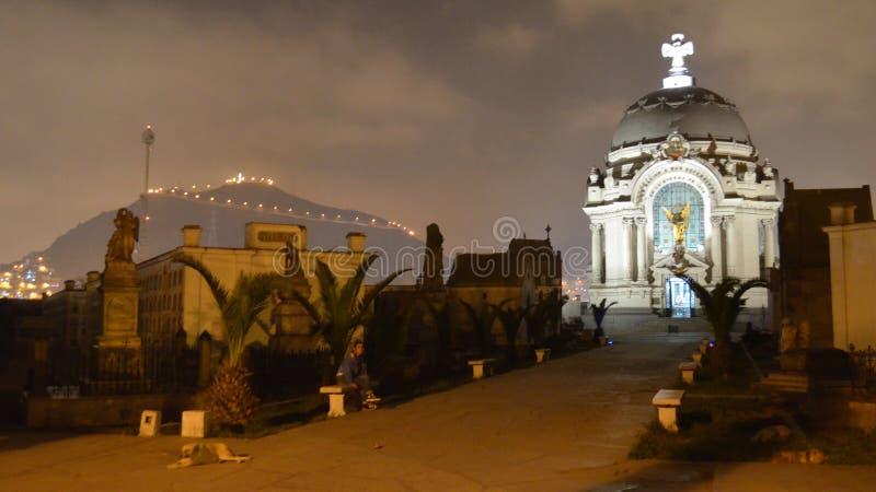 Wieczór wycieczka turysyczna Presbitero mistrzów cmentarz, Lima, Peru zdjęcia royalty free