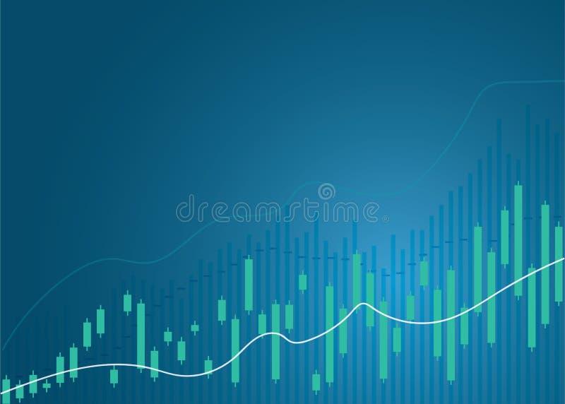 ?wieczka kija wykresu mapa rynku papier?w warto?ciowych inwestorski handel, Zwy?kowy punkt, Borsukowaty punkt ?wieczka kija wykre royalty ilustracja