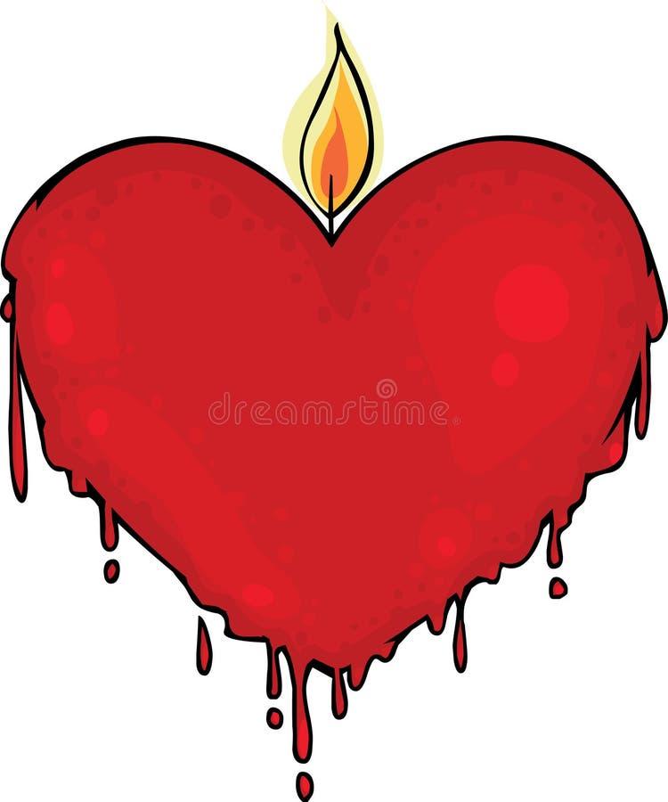 Download świeczki valentine ilustracji. Obraz złożonej z bogactwo - 17848974