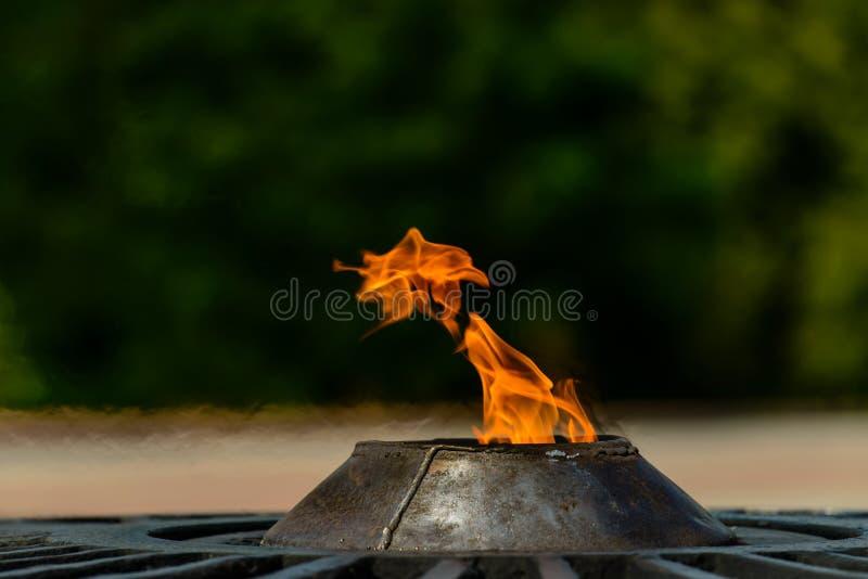 Wiecznie ogień, quenchless płomień dedykował zwycięstwo zdjęcia royalty free