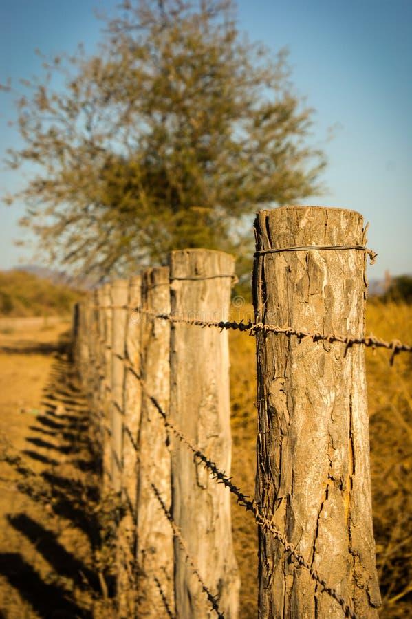 Wiecznie ogrodzenie w wiejskim życiu fotografia stock