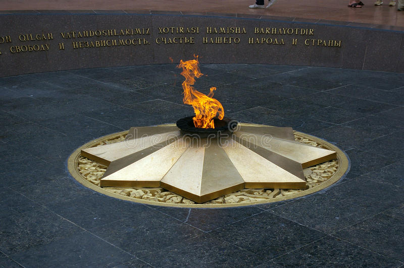 Wiecznie płomień, Tashkent zdjęcia royalty free