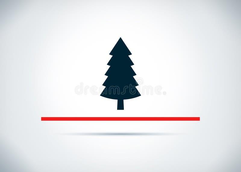 Wiecznozielonej conifer sosny ikony tła projekta abstrakcjonistyczna płaska ilustracja ilustracja wektor