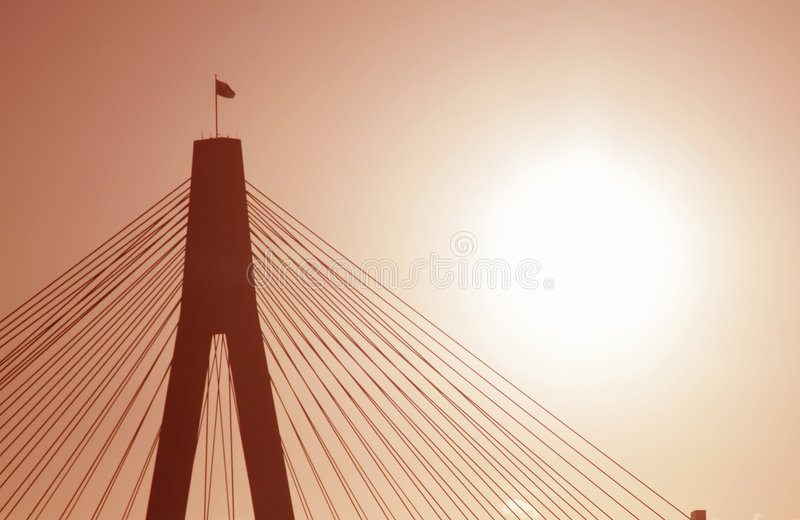 wieczorem anzac most światło fotografia royalty free