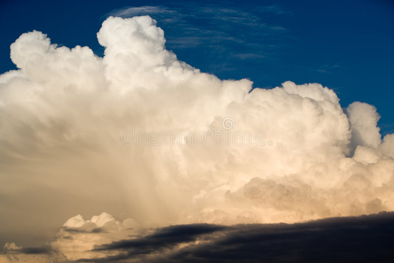 wieczorem chmur zdjęcie stock