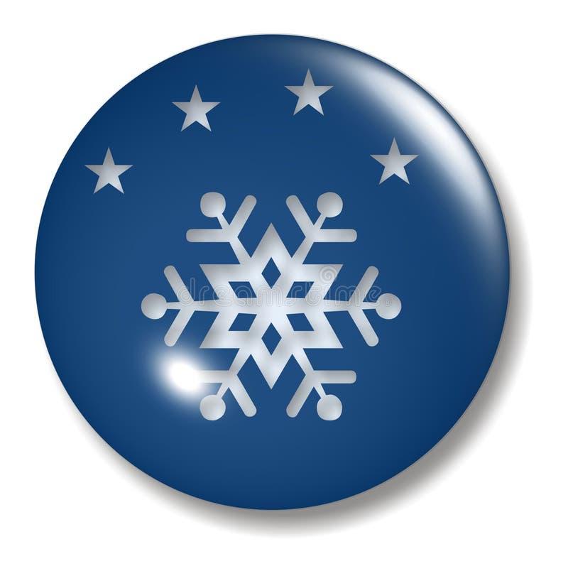 wieczorem guzik okręgu śnieg royalty ilustracja
