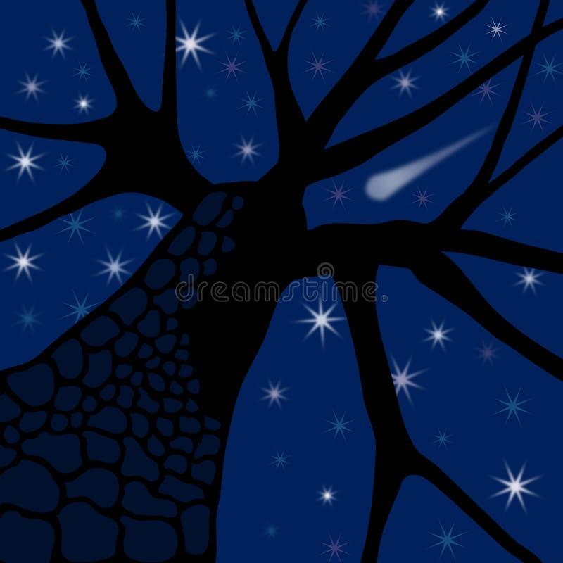 wieczorem gwiazdy royalty ilustracja