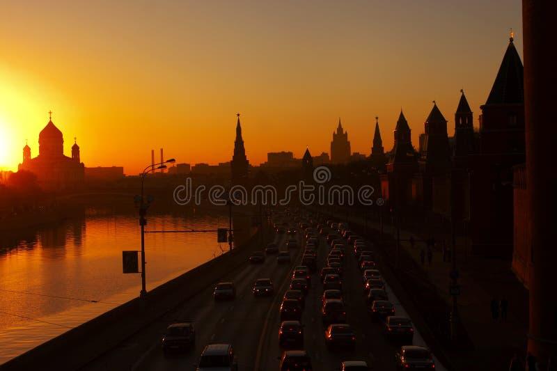 wieczorem miasto obraz royalty free