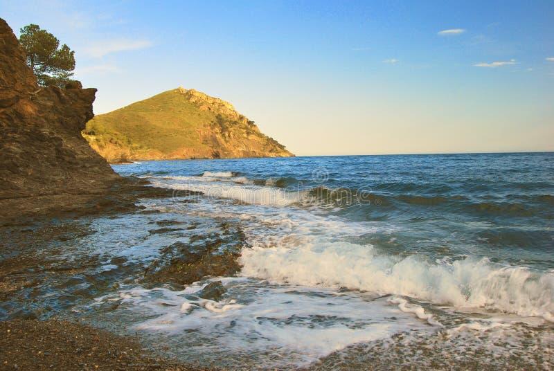 wieczorem morze Śródziemne morzem zdjęcie royalty free