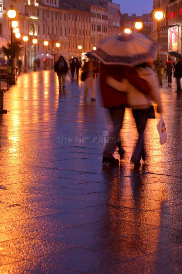 wieczorem na spacer zdjęcia stock