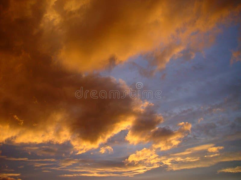 wieczorem niebo zdjęcie royalty free