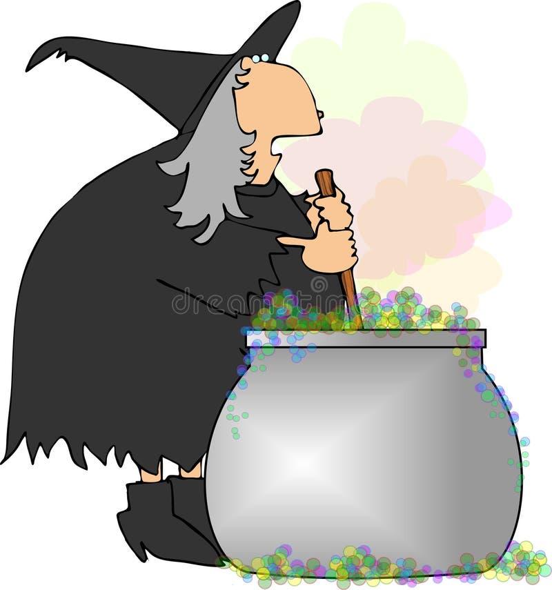 wiedźmy herbatę royalty ilustracja