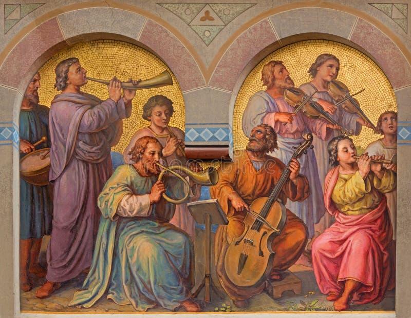 Wiedeń - chór holys w niebie obrazy stock