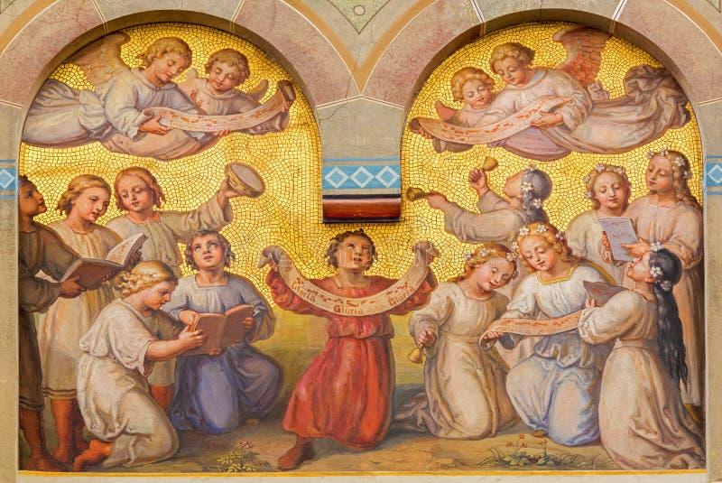Wiedeń - chór mali aniołowie fotografia stock