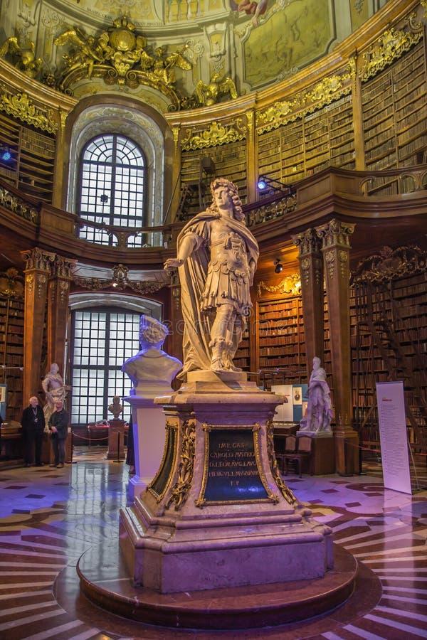 Wiedeń stanu biblioteki wnętrze fotografia royalty free