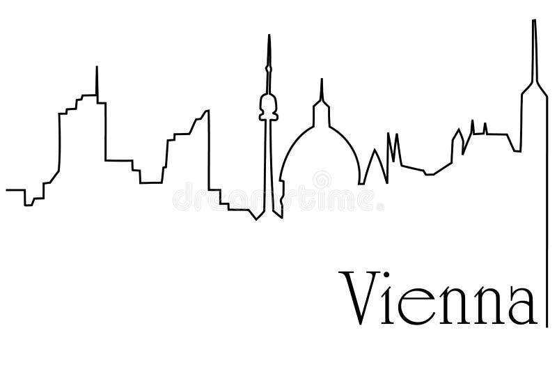 Wiedeń stolica ilustracja wektor