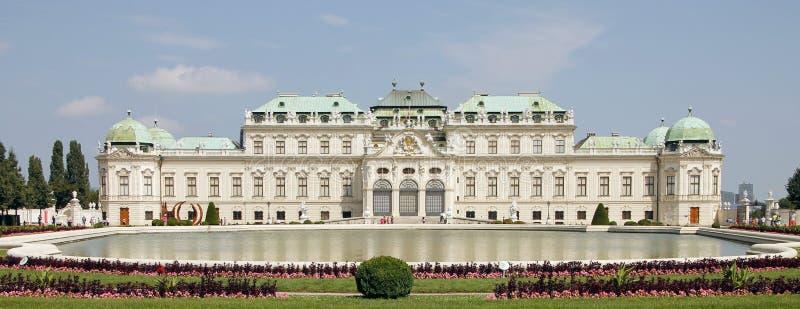Wiedeń zwiedzać: Belwederu pałac fotografia royalty free