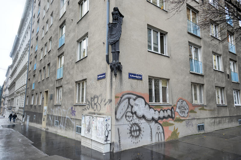 Wiedeński budynek mieszkaniowy zdjęcia stock