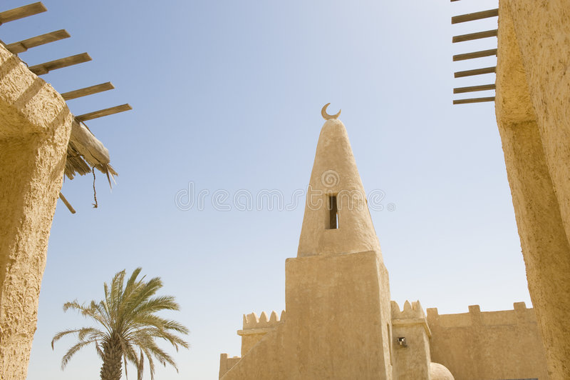 Wieder aufgebautes arabisches Dorf lizenzfreie stockfotografie