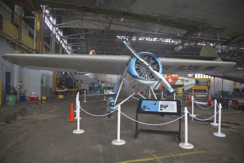 Wieder hergestelltes Lockheed Vega  lizenzfreies stockbild