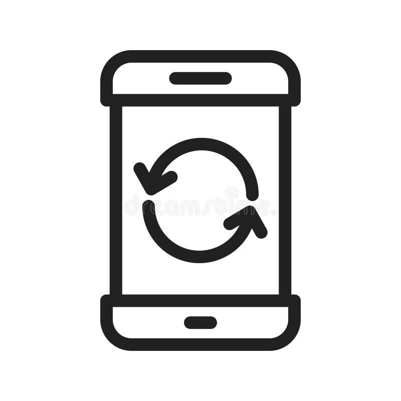 Wiederanlaufs-Telefon stock abbildung
