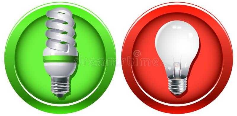 Wiedereinbau der überholten Glühbirnen stock abbildung
