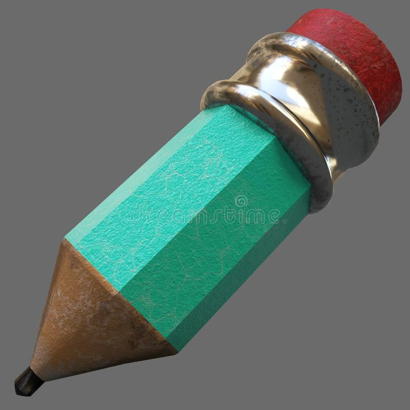 Wiedergabe 3d Bleistift stockfoto