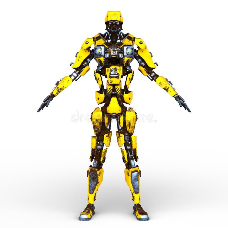 Wiedergabe 3D CG des Roboters stock abbildung