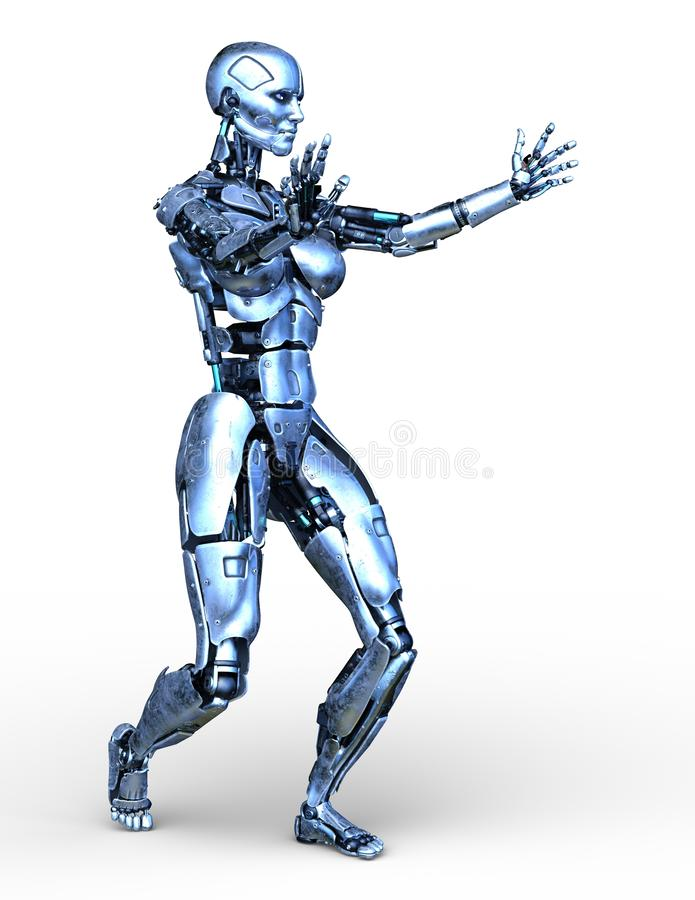 Wiedergabe 3D CG des Roboters vektor abbildung