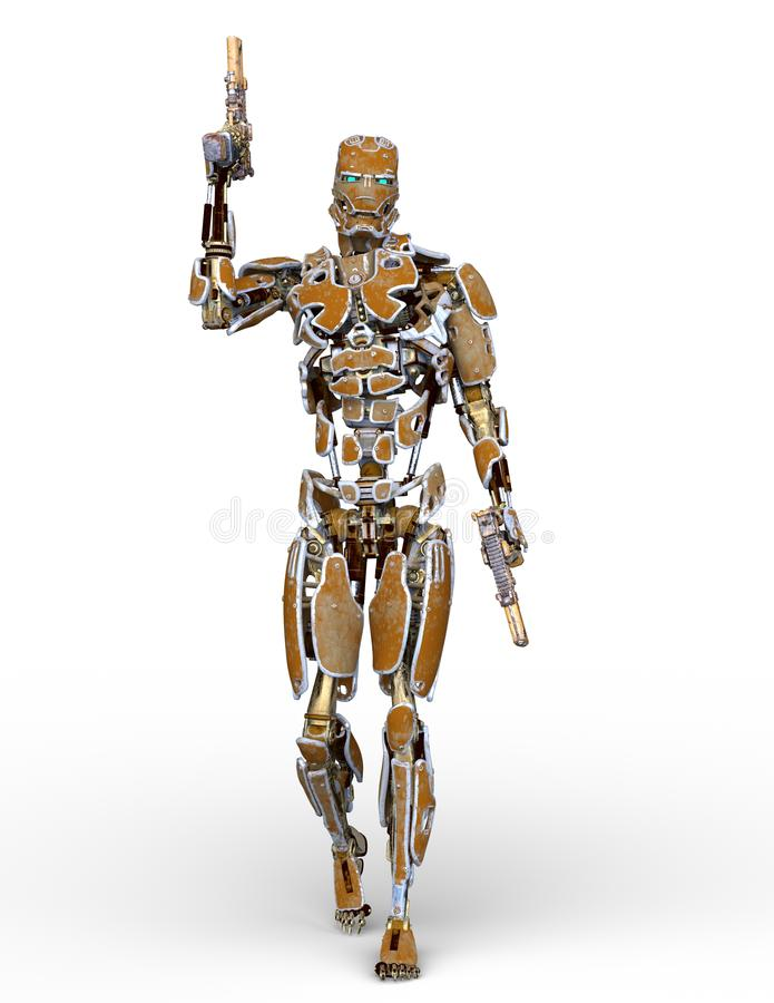 Wiedergabe 3D CG des Roboters lizenzfreie abbildung