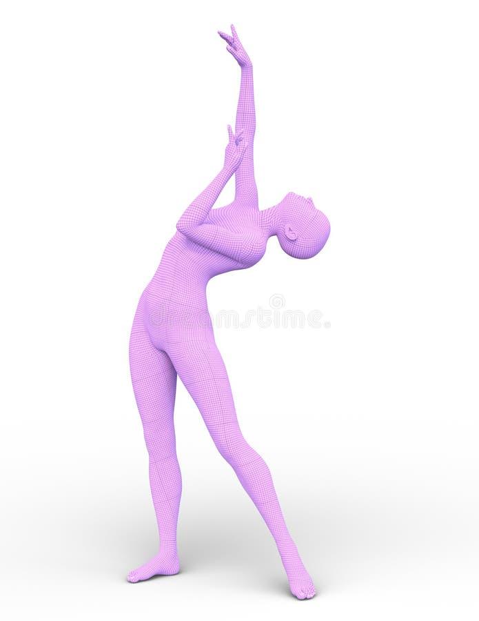 Wiedergabe 3D CG von angekleidet in der rosa Frau lizenzfreie abbildung