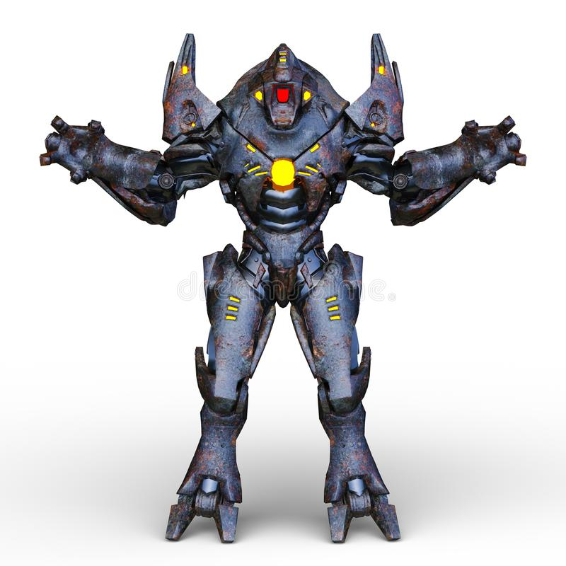 Wiedergabe 3D CG von Humanoid vektor abbildung