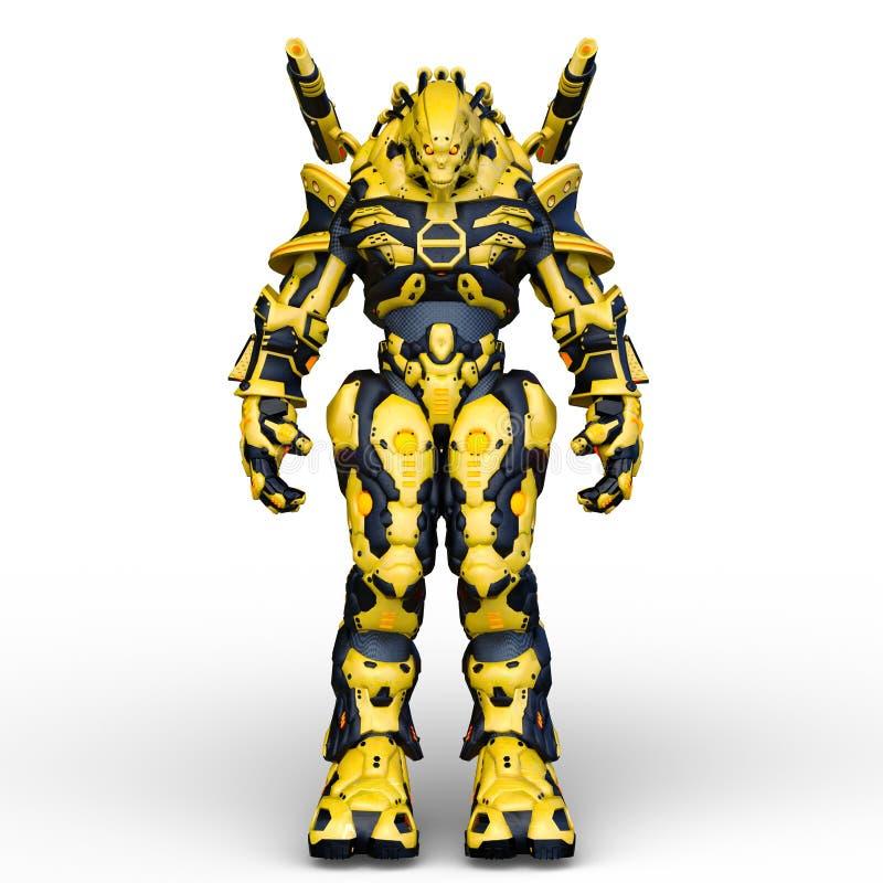Wiedergabe 3D CG von Humanoid lizenzfreie abbildung