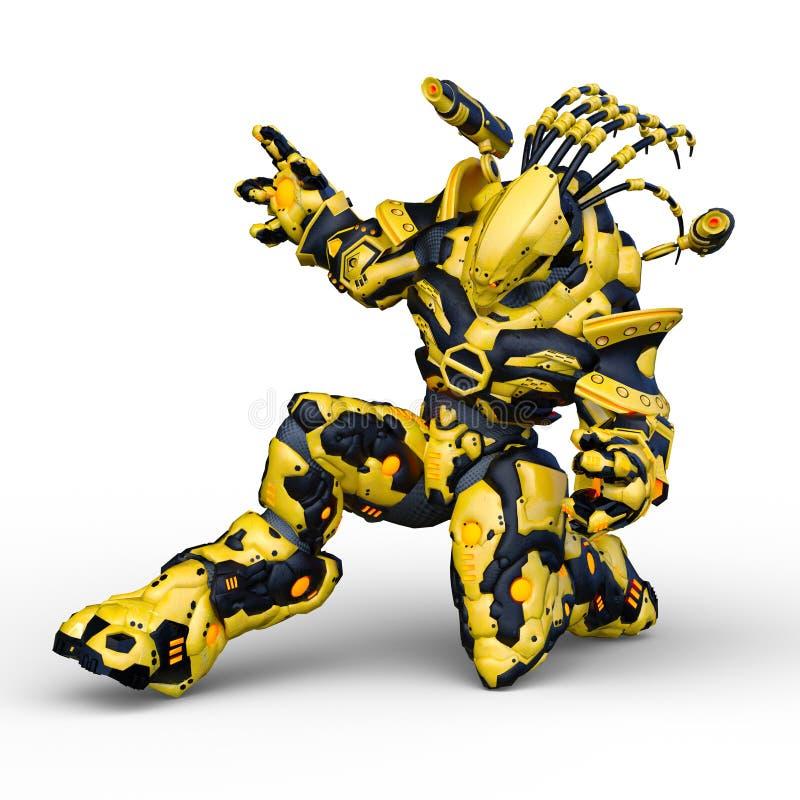 Wiedergabe 3D CG von Humanoid stock abbildung