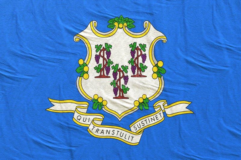 Wiedergabe 3d der Staat Connecticut-Flagge stock abbildung
