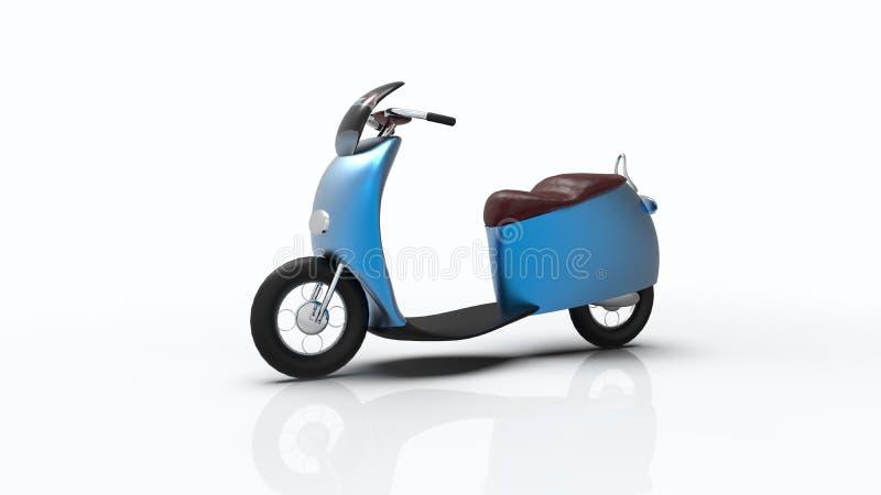 Wiedergabe 3d des elektrischen Fahrrades lokalisiert mit einzelner Farbe lizenzfreie abbildung
