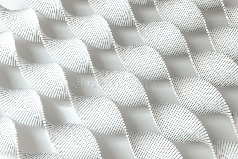 Wiedergabe 3d, die Spirale DNA bestehen aus Linien lizenzfreie abbildung
