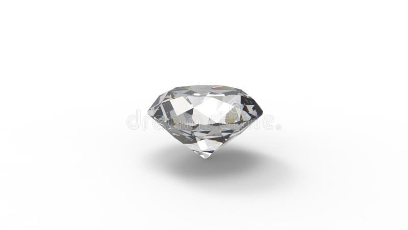 Wiedergabe 3d eines Diamanten lokalisiert im weißen Hintergrund vektor abbildung