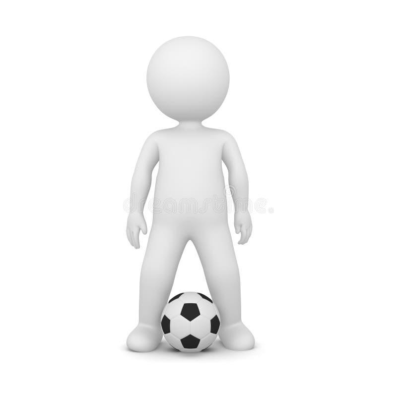 Download Wiedergabe 3D Eines Fußballspielers Auf Weiß Stock Abbildung - Illustration: 98958027