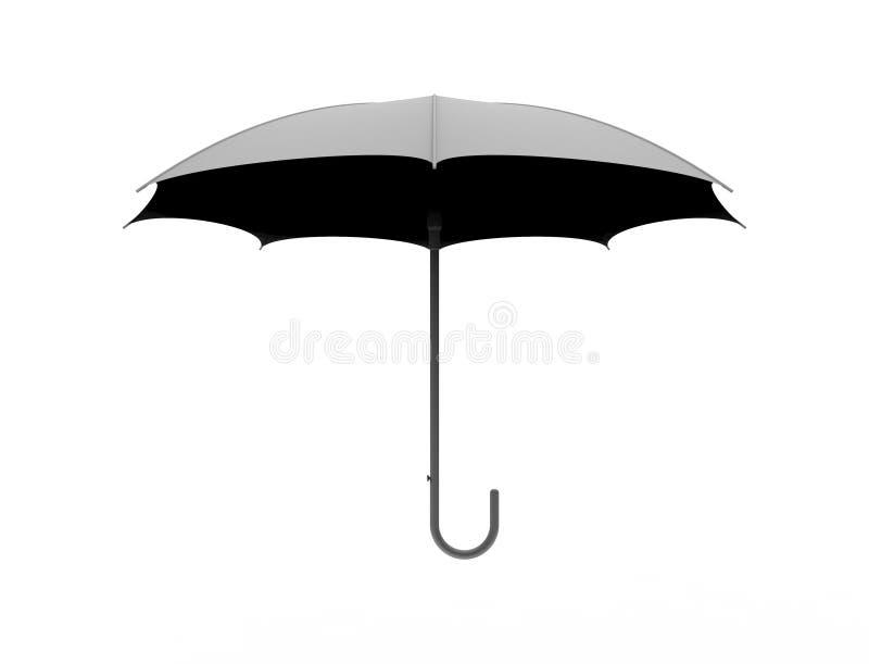 Wiedergabe 3d eines Regenschirmes lokalisiert im weißen Studiohintergrund stock abbildung
