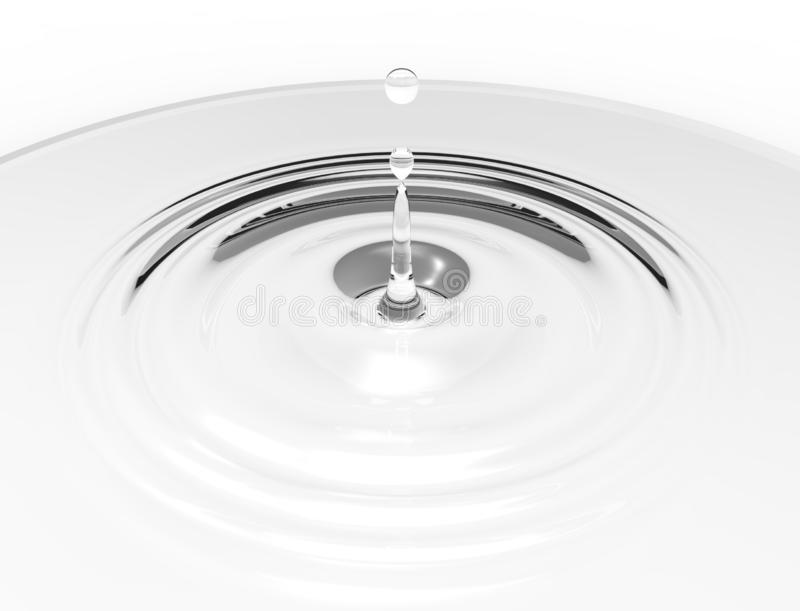 Wiedergabe 3d eines Wassertropfens lokalisiert des Studiohintergrundes vektor abbildung