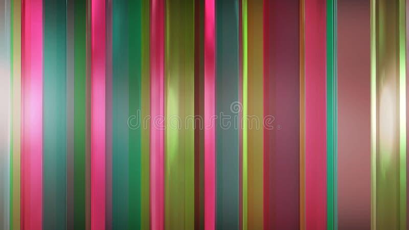 Wiedergabe 3D von abstrakten dünnen Glasplatten im Raum Platten Glanz und reflektieren sich stock abbildung