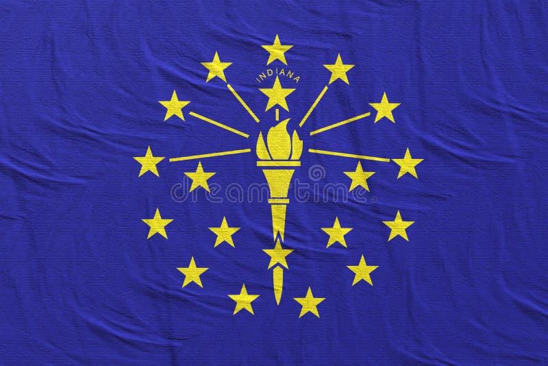 Wiedergabe 3d von Indiana State-Flagge stock abbildung