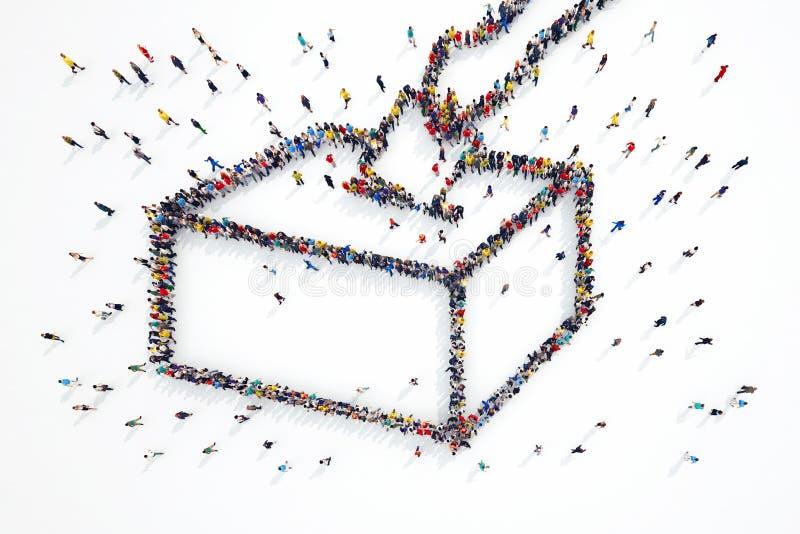Wiedergabe 3D von Leutewahlen lizenzfreie abbildung