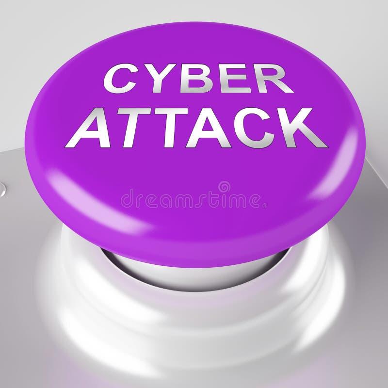 Wiedergabe der cyber-Angriffs-Verhinderungs-Sicherheits-Brandmauer-3d vektor abbildung