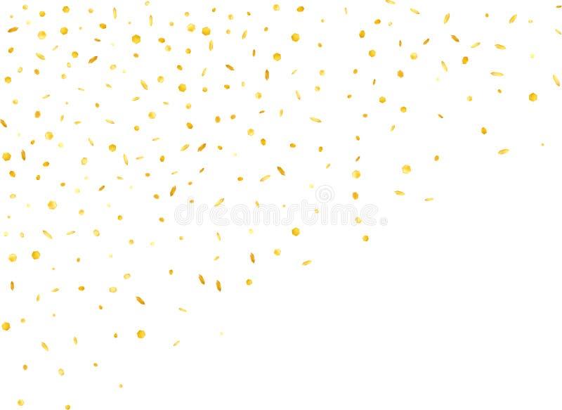 Wiedergabe der Goldsechseckige Konfettis 3d lizenzfreie abbildung